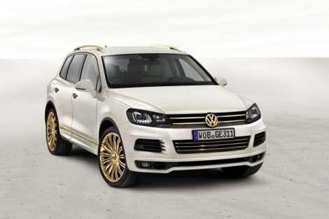 Volkswagen Touareg в золоте