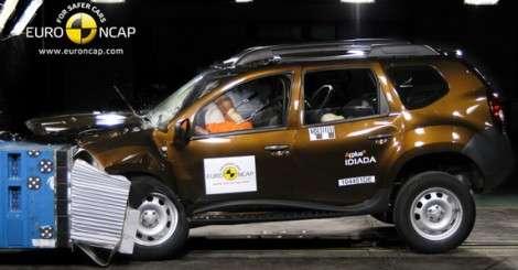 Кроссовер Dacia Duster получил тройку за безопасность