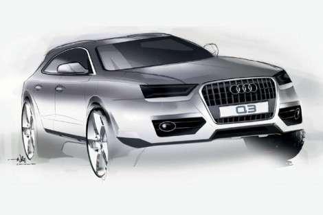 Внешность Audi Q3 представили на рисунках
