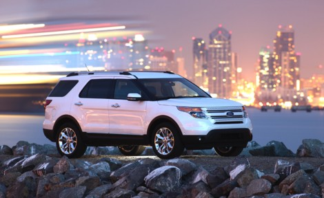 The 2011 Explorer on the all-media drive in San Diego, California