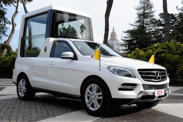 Mercedes для его Святейшества Папы Римского