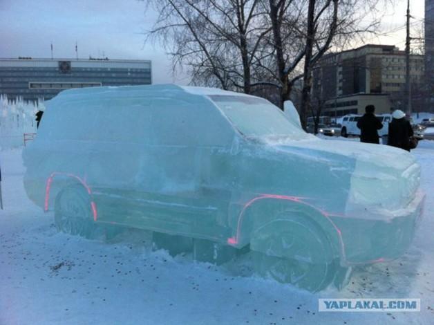 Российские умельцы сделали внедорожник из льда