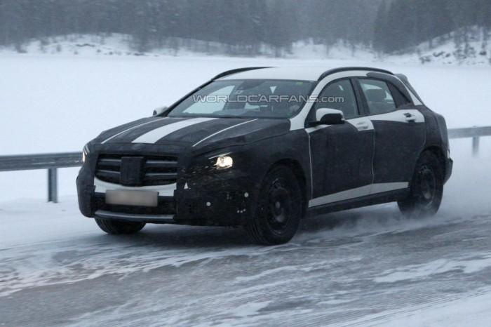 Шпионские фото Mercedes GLA