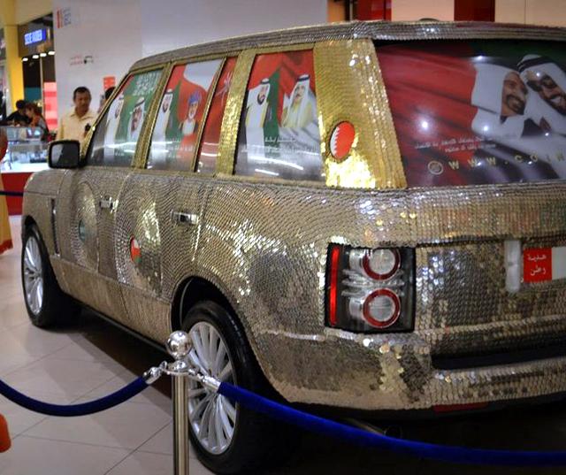 Range Rover полностью покрыли  монетами