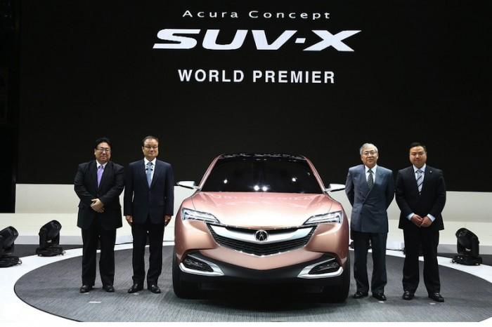 Acura SUV-X на прехентации в Шанхае