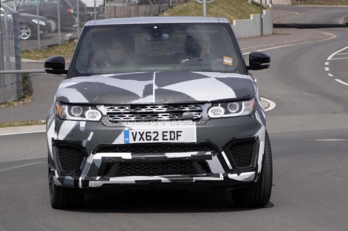 Шпионские фото Range Rover Sport RS