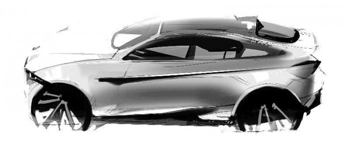 Скетч кроссовера BMW