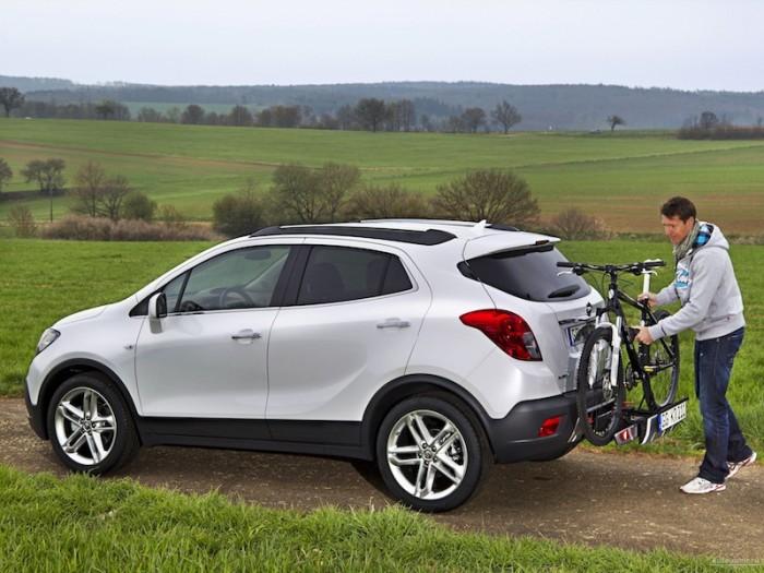 Opel Mokka с вело-багажником