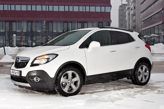 Белый Opel Mokka