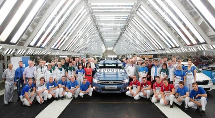 600 тысячный Volkswagen Tiguan