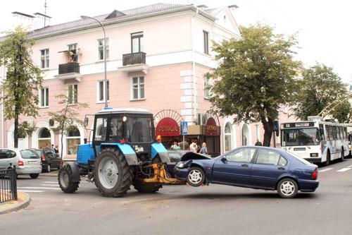Трактор в качестве эвакуатора