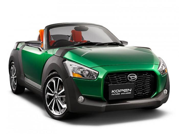 Зеленая Daihatsu Copen