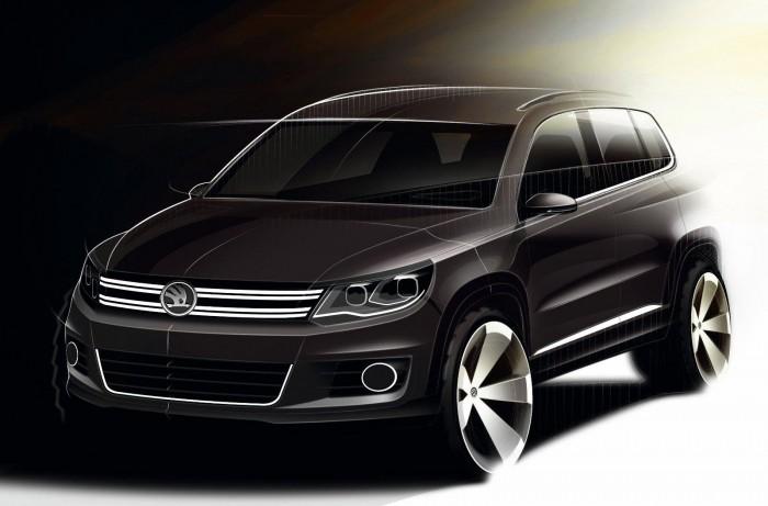 эскиз 2011 Volkswagen Tiguan