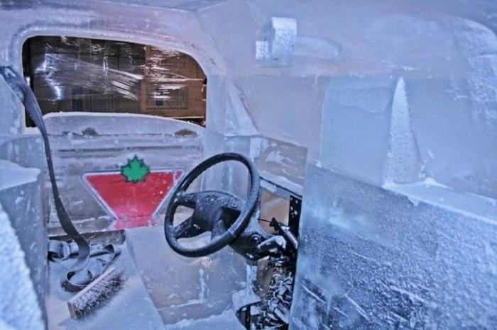 салон авто из льда