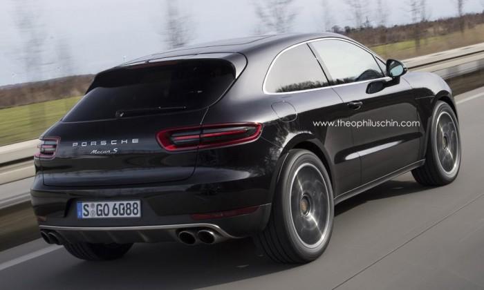 Визуализация трехдверного Porsche Macan
