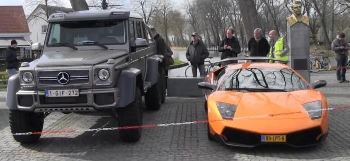 внедорожник Mercedes-Benz G63 AMG 6x6 и суперкар Lamborghini Murcielago LP670-4 SuperVeloce