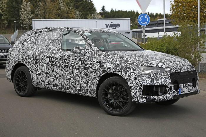 шпионские фото 2015 Audi Q7