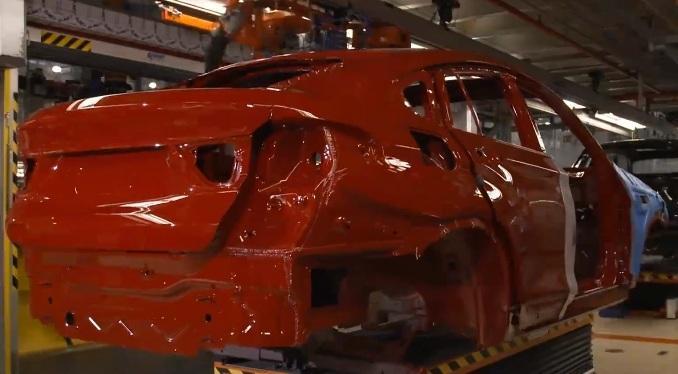 процесс сборки BMW X4
