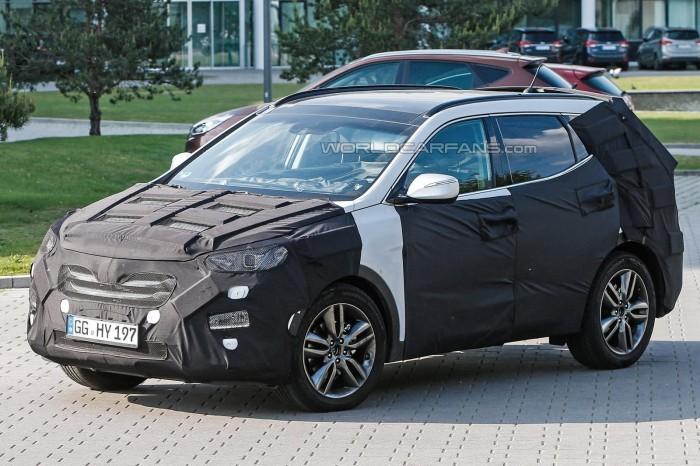 Шпионское фото 2015 Hyundai Santa Fe