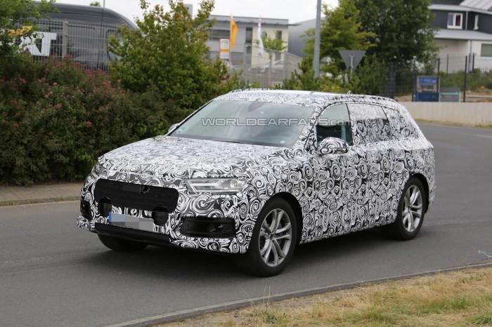 шпионское фото 2015 Audi Q7