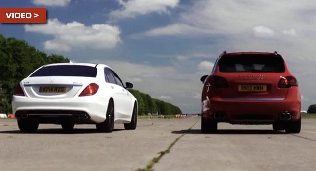 Porsche Cayenne Turbo S против Mercedes S63 AMG