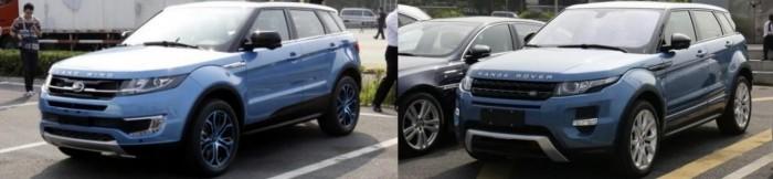 Landwind X7 и Range Rover Evoque