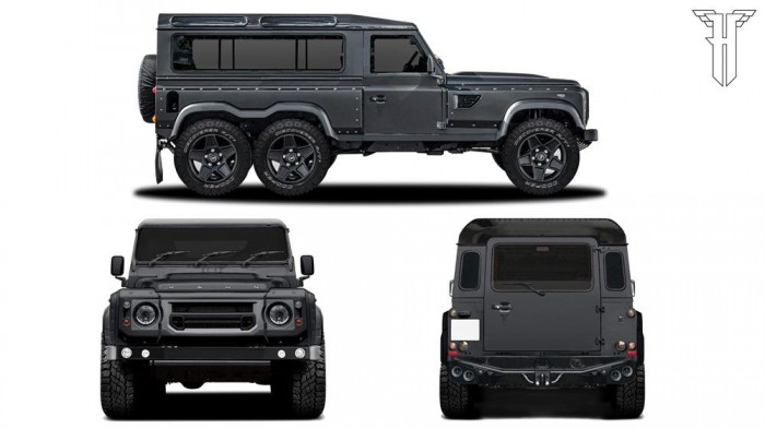 6-колесный Land Rover Defender